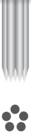 PMU - Needles 1R-0.40mm