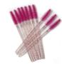 Mascara borsteltjes glitter roze (25 stuks)